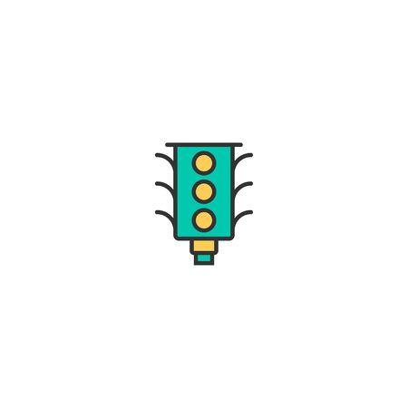 Traffic light icon design. Transportation icon vector illustration
