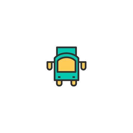 Truck icon design. Transportation icon vector illustration