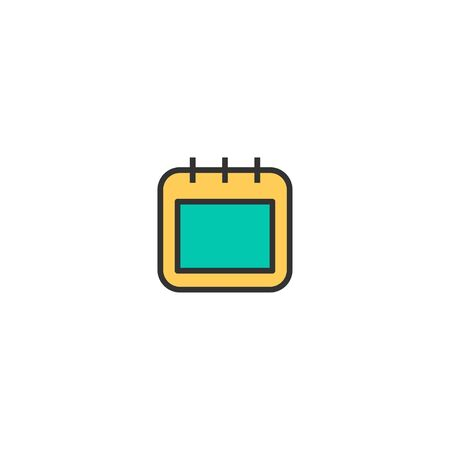 Calendar icon design. Stationery icon vector illustration 일러스트
