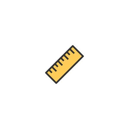 Ruler icon design. Stationery icon vector illustration