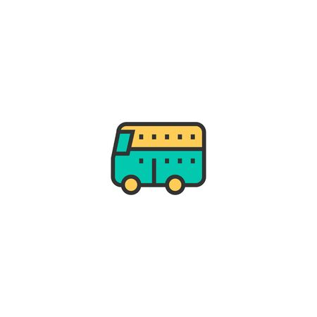 Bus icon design. Transportation icon vector illustration Banque d'images - 129276598