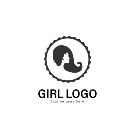 Beauty logo template design. Beauty logo with modern frame isolated on white background Stockfoto - 129276653