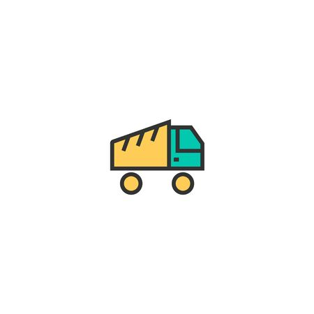 Truck icon design. Transportation icon vector illustration Banque d'images - 129276650