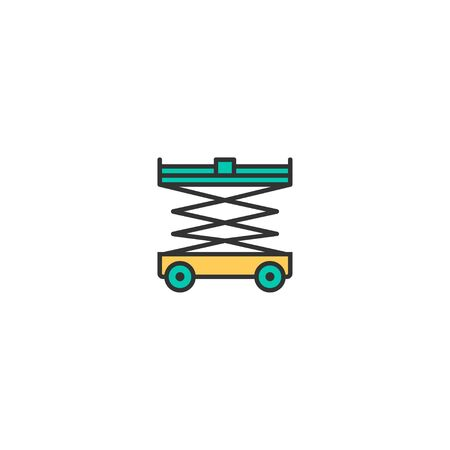 Lifter icon design. Transportation icon vector illustration