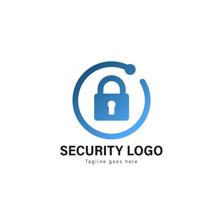 Security logo template design. Security logo with modern frame isolated on white background Banque d'images - 129276657