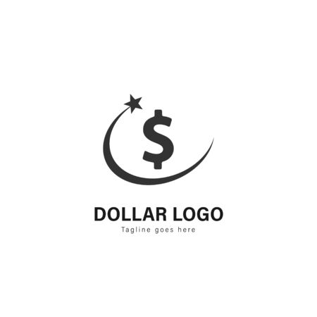 Money logo template design. Money logo with modern frame isolated on white background 일러스트