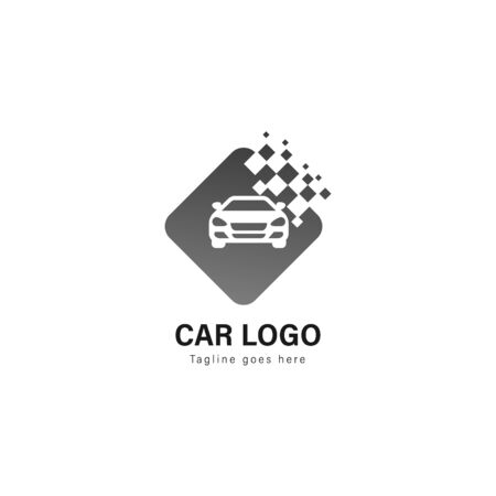 Car logo template design. Car logo with modern frame isolated on white background Ilustração