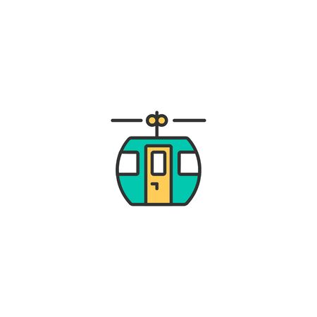 Cable car cabin icon design. Transportation icon vector illustration Stock Illustratie