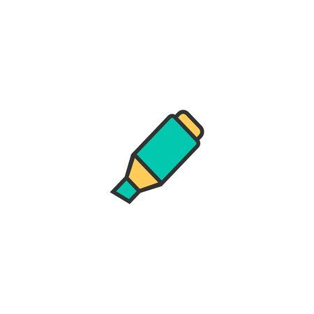 Highlighter icon design. Stationery icon vector illustration Stock Vector - 129367915