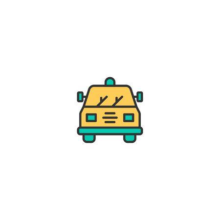 Police car icon design. Transportation icon vector illustration