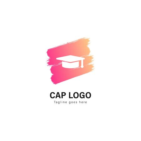 University logo template design. University logo with modern frame isolated on white background
