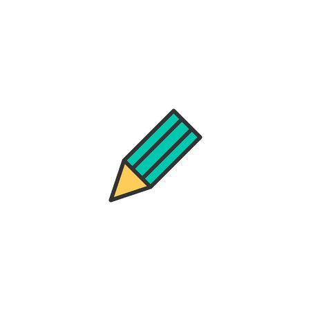 Pencil icon design. Stationery icon vector illustration