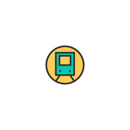 Train icon design. Transportation icon vector illustration Ilustração