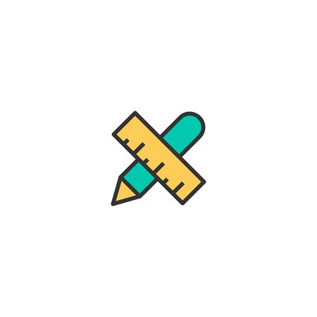 Writing tool icon design. Stationery icon vector illustration