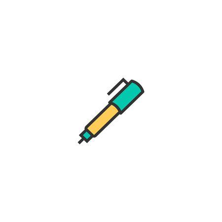 Pen icon design. Stationery icon vector illustration