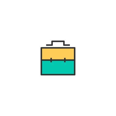 Briefcase icon design. Stationery icon vector illustration
