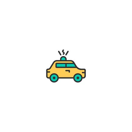 Police car icon design. Transportation icon vector illustration