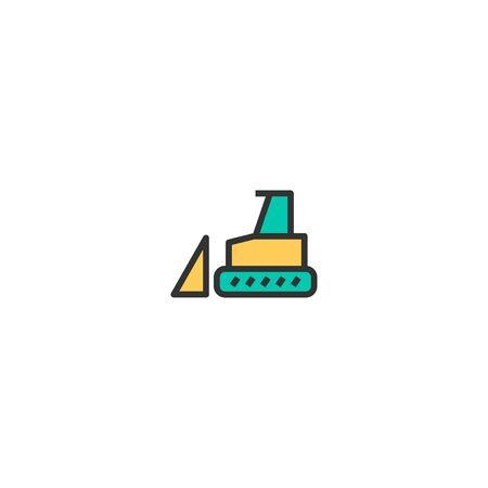 Bulldozer icon design. Transportation icon vector illustration