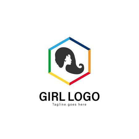 Beauty logo template design. Beauty logo with modern frame isolated on white background