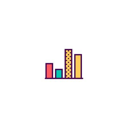 graph icon line design. Business icon vector illustration Foto de archivo - 129415422