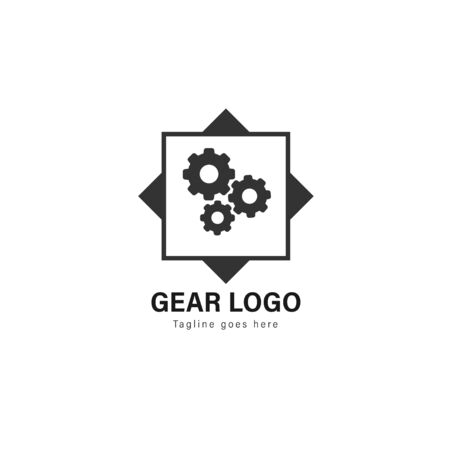 Automotive logo template design. Automotive logo with modern frame isolated on white background Stock Illustratie