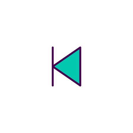 Back icon design. Essential icon vector illustration