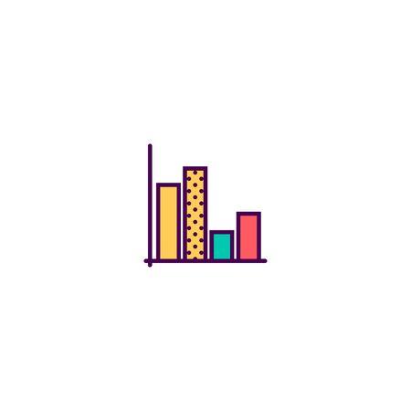 graph icon line design. Business icon vector illustration Foto de archivo - 129415871