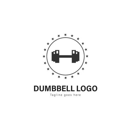 Fitness logo template design. Fitness logo with modern frame isolated on white background 写真素材 - 129415892