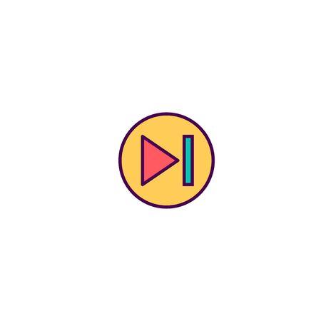 Skip icon design. Essential icon vector illustration