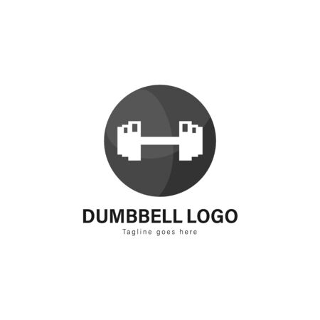 Fitness logo template design. Fitness logo with modern frame isolated on white background