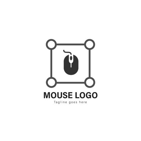 Computer logo template design. Computer logo with modern frame isolated on white background 스톡 콘텐츠 - 129416401