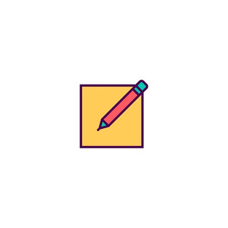 Edit icon design. Essential icon vector illustration