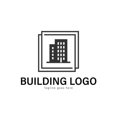 Building logo template design. Building logo with modern frame isolated on white background Иллюстрация