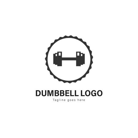 Fitness logo template design. Fitness logo with modern frame isolated on white background 写真素材 - 129417076