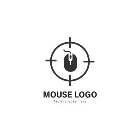Computer logo template design. Computer logo with modern frame isolated on white background 스톡 콘텐츠 - 129417087