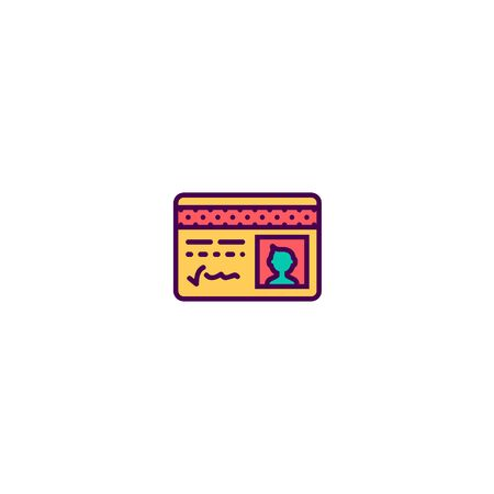 Id card icon design. Essential icon vector illustration
