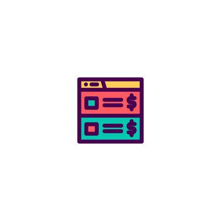 List icon design. e-commerce icon vector illustration