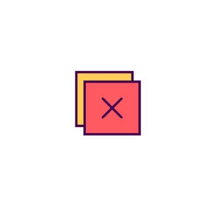 Close icon design. Essential icon vector illustration 일러스트