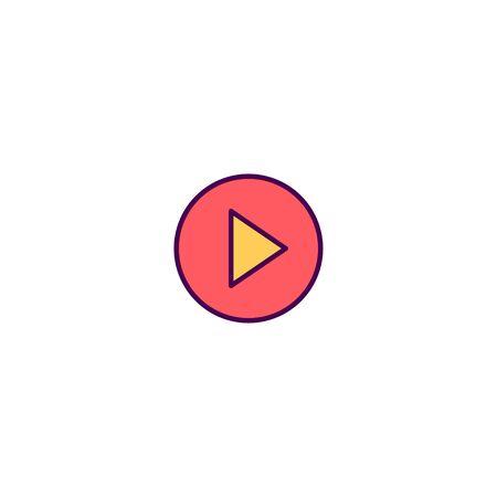 Play Button icon design. Essential icon vector illustration