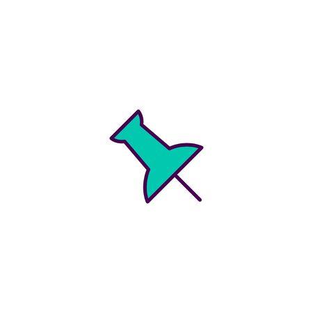 Push Pin icon design. Essential icon vector illustration 向量圖像