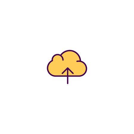 Cloud Computing icon design. Essential icon vector illustration