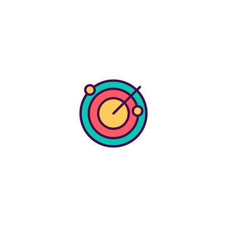 Radar icon design. Essential icon vector illustration