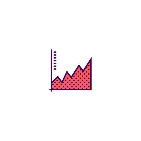 graph icon line design. Business icon vector illustration Foto de archivo - 129418052