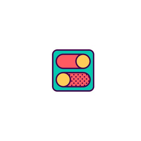 Switch icon design. Essential icon vector illustration Banque d'images - 129418249