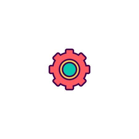 Settings icon design. Essential icon vector illustration Illustration