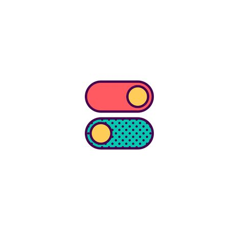Switch icon design. Essential icon vector illustration Banque d'images - 129492335