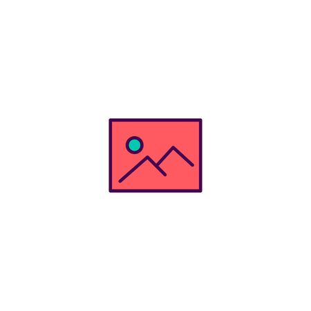 Picture icon design. Essential icon vector illustration