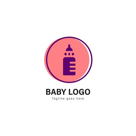 Baby logo template design. baby logo with modern frame isolated on white background Archivio Fotografico - 129492513