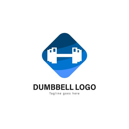 Fitness logo template design. Fitness logo with modern frame isolated on white background 写真素材 - 129492512