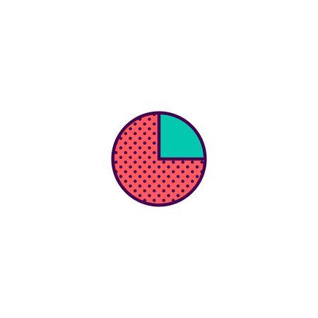 pie chart icon line design. Business icon vector illustration Illusztráció